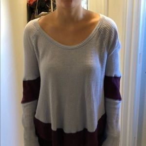 Free people Long Sleeve thermal purple size med